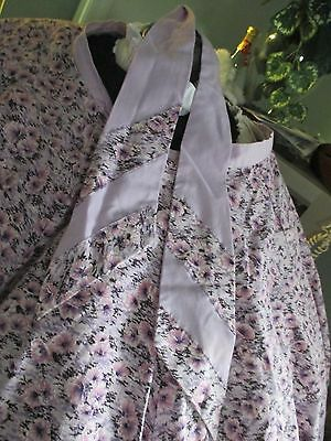 ,SQUARE DANCE  SKIRT ,LAVENDER AND PINK +TIE