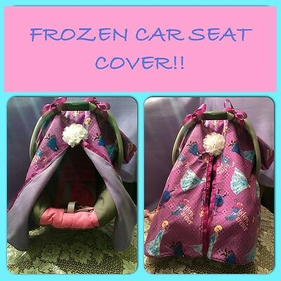 Handmade Frozen Baby Car Seat Canopy!!! Can Be Different Fabric!!