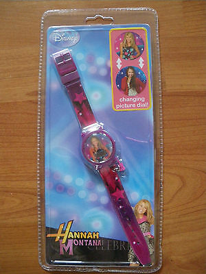 ***  HANNAH MONTANA LENTICULAR WRISTWATCH *** NEW AND SEALED ***