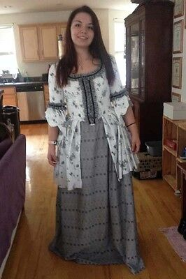 18th Century Georgian Colonial Gown Carraco Jacket and Skirt. hand made pretty!