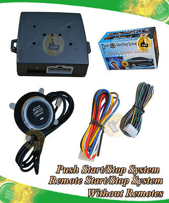 Universal push button start stop&remote start system,working with car alarm