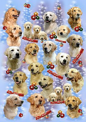 Golden Retriever Dog Christmas Wrapping Paper By Starprint - Auto combined post