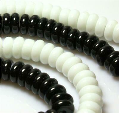 8mm ROUND DONUT / RONDELLE GLASS BEADS 70 per bag choose colour