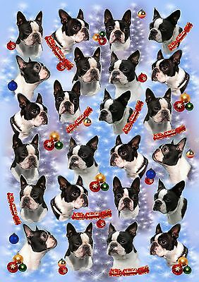 Boston Terrier Dog Christmas Paper by Starprint - Visit our shop