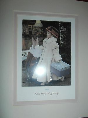 """Photo Print by Gail Goodwin 8"""" x 10"""" """"SHOPPING"""" Double Matted 1998"""