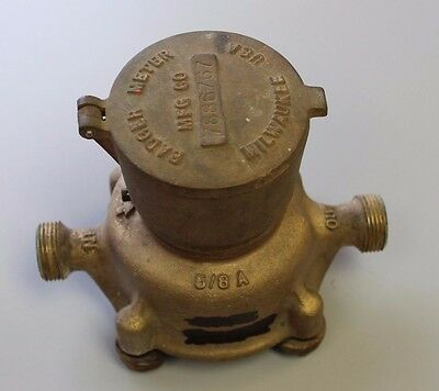 """Badger 5/8"""" x 3/4"""" Brass Water Meter Reads in Cubic Feet Used"""