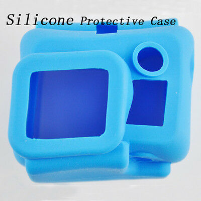Portect Soft Silicone Protective Dirtproof Case Cover for Gopro Hero 3 Blue dfo