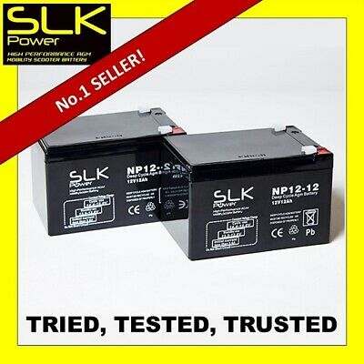 PAIR (12volt) 12 24 33 36 40 50 55 75AH MOBILITY SCOOTER DEEP CYCLE BATTERIES