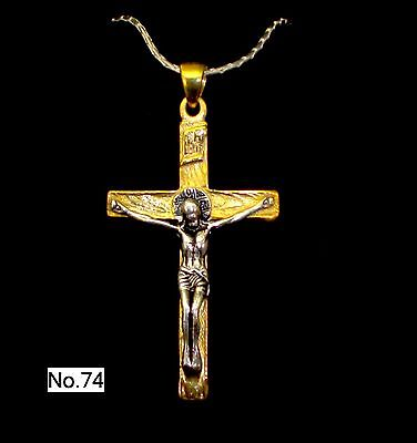 RUSSIAN GREEK ORTHODOX ICON CROSS,SILVER 925+.999 GOLD. OLD STYLE