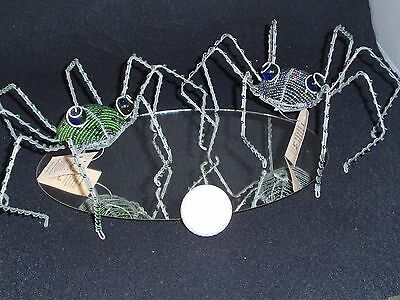 Purple Rhino Imports - South Africa - Wire and Beads - Spiders - 2 Pieces