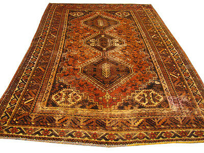 Vegetable Wash Over Dyed Persian Heriz Area Wool Rug 6x9 Ft Free Ship