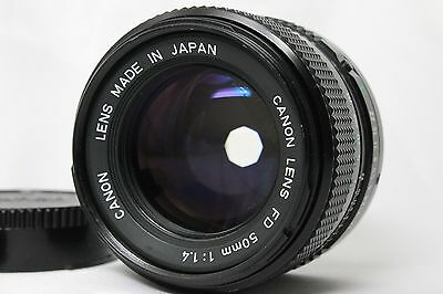 Canon New FD 50mm f1.4 Prime Lens Manual Focus Excellent+ From Japan