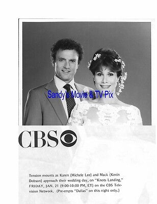 MICHELE LEE, KEVIN DOBSON Fantastic Original TV Photo KNOTS LANDING **WEDDING**