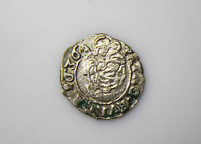Madonna with baby Jesus - medieval silver coin - 1636