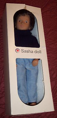 Sasha Doll Gregor Original Tag Made In England Box Never Played with Vintage WOW