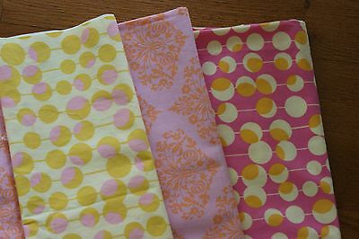 Amy Butler Midwest Modern 3.5 yards Pink Ivory Martini Paisley fabric lot