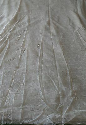 """Antique  Beige  Lace Filet  lot  for  Curtains   6+ Yards by  2+/248"""" by 85"""""""