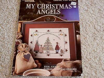 MY CHRISTMAS ANGELS counted cross stitch Leisure Arts #736 c1988 Bk4