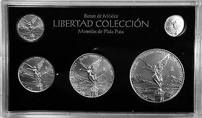 2015 5pc Silver Libertad BU Set *** Treasure Coins of Mexico™***