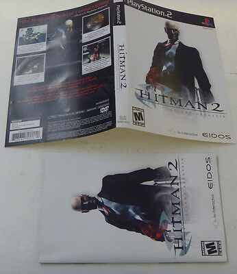 Hitman 2 Silent Assassin (Playstation 2, 2003) Artwork and Manual only