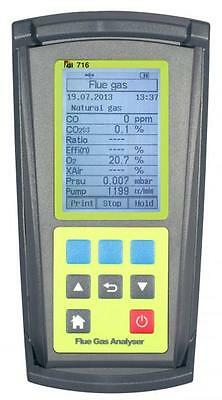 TPI 716 Flue Gas Analyzer for combustion efficiency