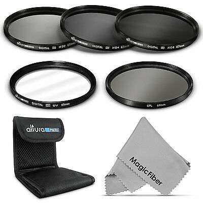 67MM Filter Kit ND 2 ND4 ND8 UV CPL for Canon EOS / Nikon DLSR Cameras