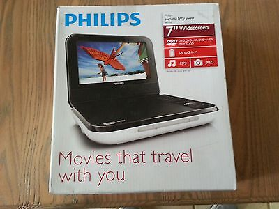 Philips PD700/37 7-Inch LCD Portable DVD Player - White - USED / BA-04/30