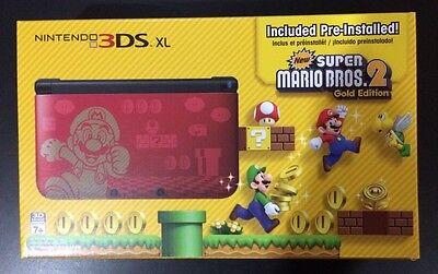 Nintendo 3DS XL New Super Mario Bros 2 Special Edition Gold Limited PreInstalled
