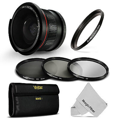 Fisheye + UV CPL ND Filter Kit for Nikon 1 J1 J2 J3 J4 S1 S2 V1 V2 AW1 Compact