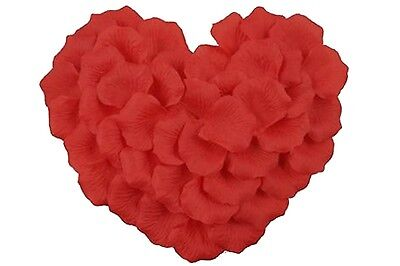 100 PCS Red Silk Flower Rose Petals Fit Sweet Confession Propose Wedding Party