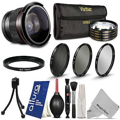 HD Wide Angle + Close Up Lens + Filter Kit for Nikon 1 J1 J2 J3 J4 V1 V2 AW1 S1