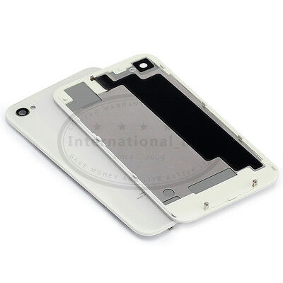 White For iPhone 4s Back Glass Replacement Battery Cover Door AT&T VERIZON A1387
