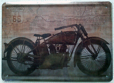 NEW US 66 Motorcycle metal poster Vintage Tin signs Home room bar decor TP116