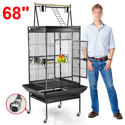 "68"" Bird Cage Large Play Top Parrot Finch Cage Macaw Cockatoo Pet Supplies"