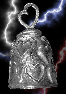 Pewter Hearts Travel Bell for Motorcycle Gift Bag Legend Collectible Accessory