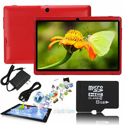 """16GB 7"""" Google Android 4.2 Tablet PC A23 Capacitive Dual Camera MID 512MB RED"""