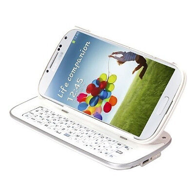 White Detachable Angled Wireless Bluetooth Keyboard Case for Samsung Galaxy S3
