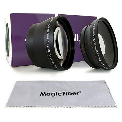 72MM Wide Angle Lens + Telephoto for Canon EOS 7D 50D 5D 60D 600D T3i w/ 18-200