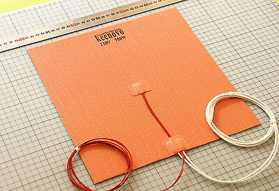 30X30CM 750W@220V Silicone Heater 3D Printer Heated Bed Pad w/ 3M &Thermistor