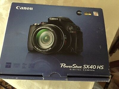 NEW Canon PowerShot SX40 HS Digital Camera 12.1 Megapixels 24mm 35x Optical Zoom