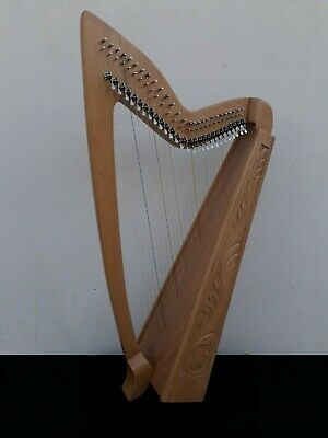 Gevon | 27 Strings Levers Rosewood Celtic Irish Harp, Bag & Book | Limerick H10L