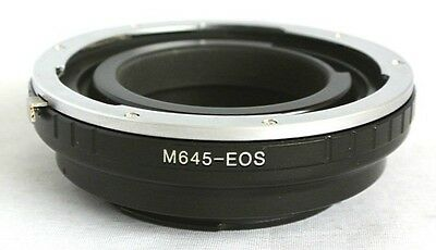 Mamiya 645 Lens to Canon EOS EF EF-S Camera Lens Mount Adapter 60D 7D 5D M645-EF
