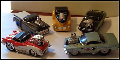 Lot of 5 Five Loose Muscle Machines Diecast Cars  1 64 Scale Loose Hot Rods
