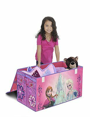 DISNEY Frozen TOY CHEST Collapsible Storage Trunk Box Room Organizer Girls Gift