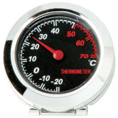 Black & Chromed In Car (-20/+70) Temperature Measuring Thermometer Gauge Dial