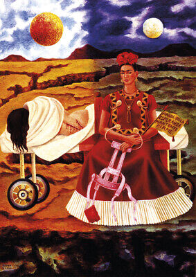 Frida Kahlo - Tree of the hope - A4 size 21x29.7cm QUALITY Canvas Print Unframed