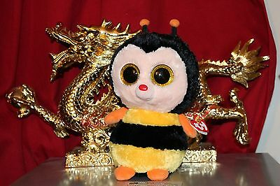 """Ty BEANIE BOO STING THE BUMBLE BEE 10"""" BUDDY-MINT WITH NEAR MINT HANG TAG"""