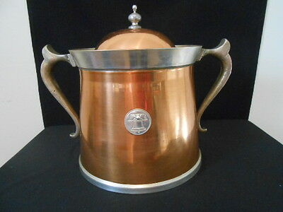 "Vintage - LUMAS HANDCRAFTED GIFTWARE ICE BUCKET 7""TALL 7 1/2"" WIDE COPPER/BRASS"