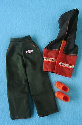 Mattel Genuine Barbie Doll Pants, Nylon Vest with Hoody and Orange Boots