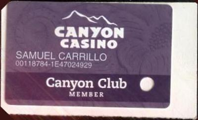 Canyon Casino Players Club Card Blackhawk, Colorado